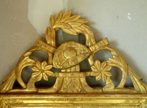Fronton miroir Luis XVI