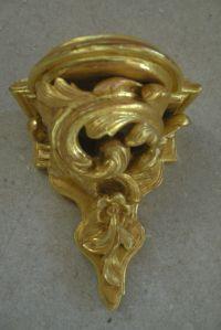 Console d'applique doré